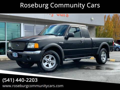 2002 Ford Ranger for sale at Roseburg Community Cars in Roseburg OR
