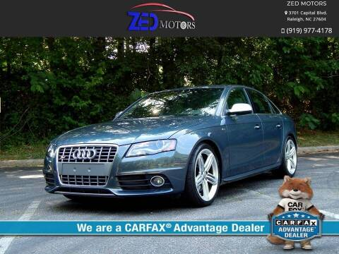 2011 Audi S4 for sale at Zed Motors in Raleigh NC