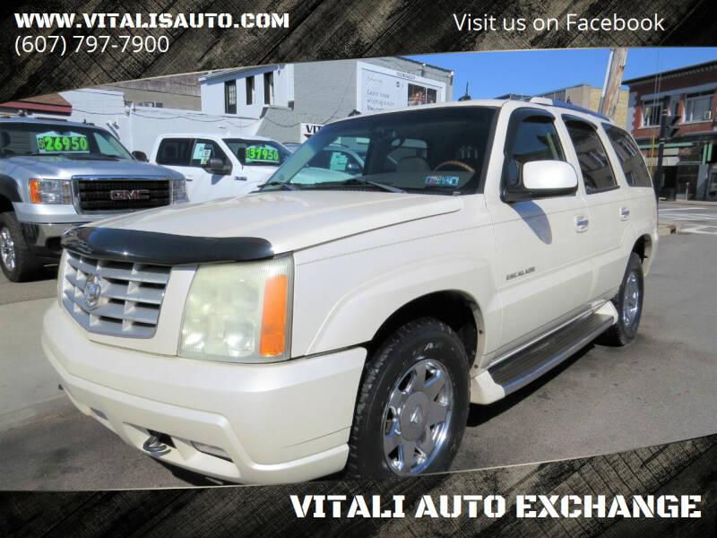 2003 Cadillac Escalade for sale at VITALI AUTO EXCHANGE in Johnson City NY