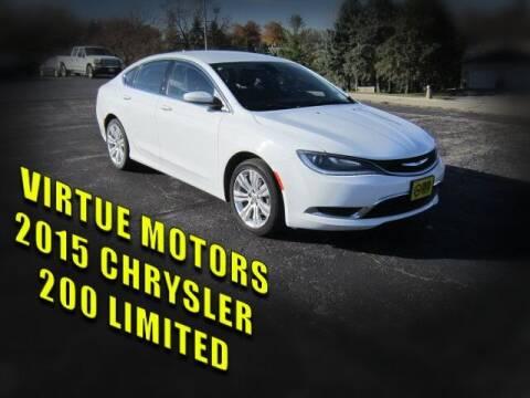2015 Chrysler 200 for sale at Virtue Motors in Darlington WI