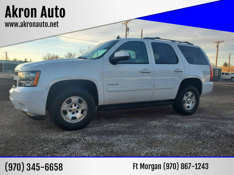 2014 Chevrolet Tahoe for sale at Akron Auto in Akron CO