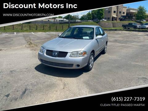 2006 Nissan Sentra for sale at Discount Motors Inc in Nashville TN
