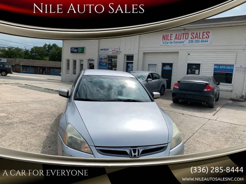 2006 Honda Accord for sale at Nile Auto Sales in Greensboro NC