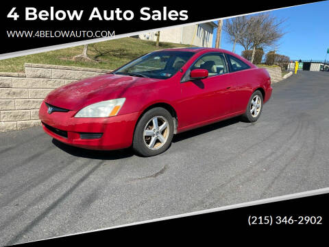 2004 Honda Accord for sale at 4 Below Auto Sales in Willow Grove PA