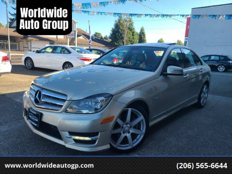 2012 Mercedes-Benz C-Class for sale at Worldwide Auto Group in Auburn WA
