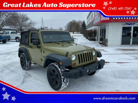 2013 Jeep Wrangler for sale at Great Lakes Auto Superstore in Pontiac MI