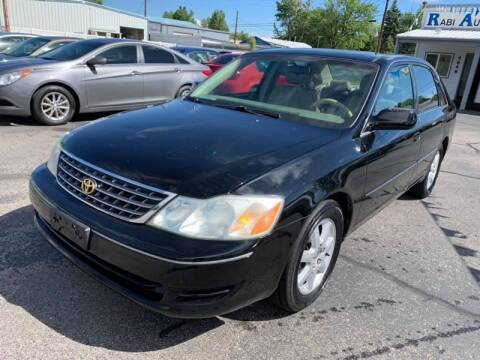 2003 Toyota Avalon for sale at RABI AUTO SALES LLC in Garden City ID