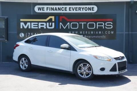 2014 Ford Focus for sale at Meru Motors in Hollywood FL