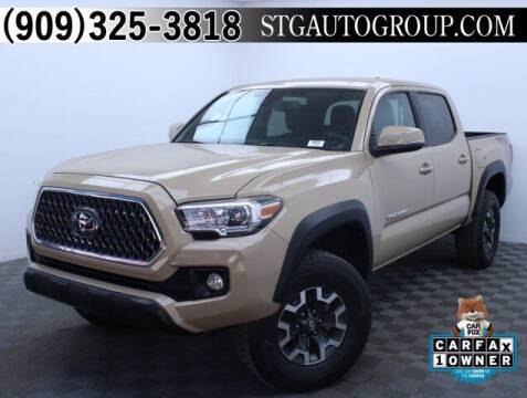 2018 Toyota Tacoma for sale at STG Auto Group in Montclair CA