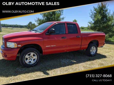 2005 Dodge Ram Pickup 1500 for sale at OLBY AUTOMOTIVE SALES in Frederic WI