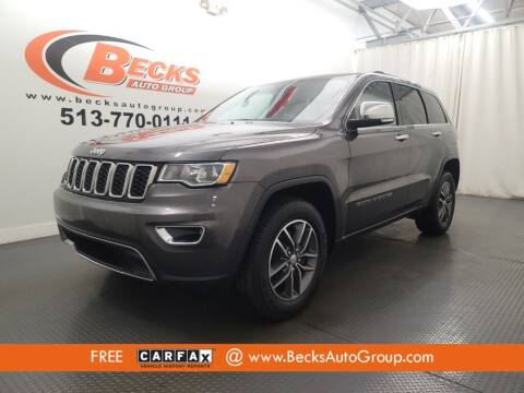 2017 Jeep Grand Cherokee for sale at Becks Auto Group in Mason OH