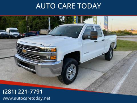 2016 Chevrolet Silverado 2500HD for sale at AUTO CARE TODAY in Spring TX