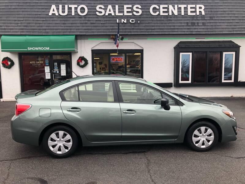 2016 Subaru Impreza for sale at Auto Sales Center Inc in Holyoke MA