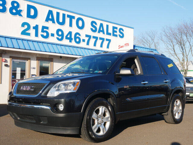 2012 GMC Acadia for sale at B & D Auto Sales Inc. in Fairless Hills PA