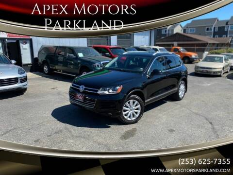 2011 Volkswagen Touareg for sale at Apex Motors Parkland in Tacoma WA