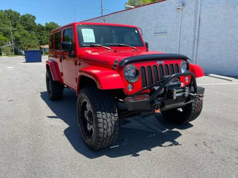 2015 Jeep Wrangler Unlimited for sale at LUXURY AUTO MALL in Tampa FL