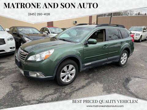 2012 Subaru Outback for sale at Matrone and Son Auto in Tallman NY