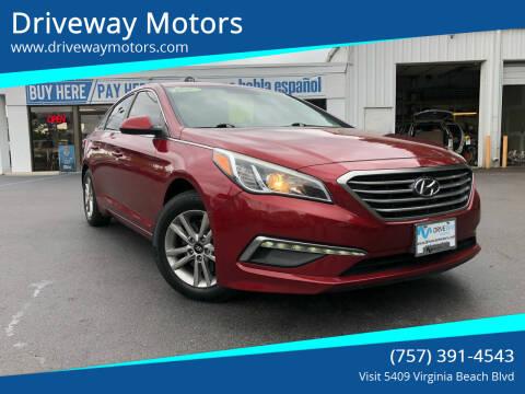 2015 Hyundai Sonata for sale at Driveway Motors in Virginia Beach VA