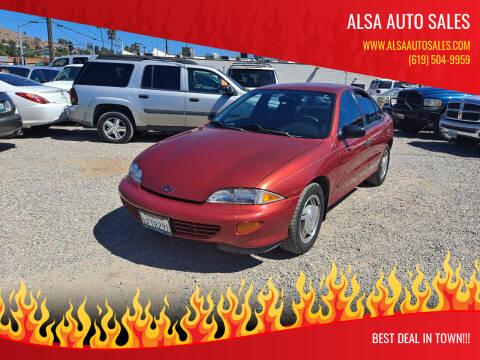 1999 Chevrolet Cavalier for sale at ALSA Auto Sales in El Cajon CA