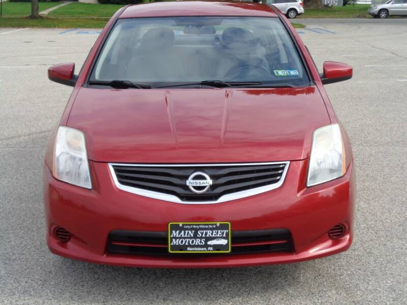 2012 Nissan Sentra for sale at MAIN STREET MOTORS in Norristown PA