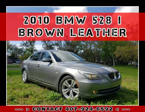 2010 BMW 5 Series for sale at AFFORDABLE ONE LLC in Orlando FL
