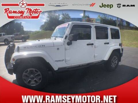 2016 Jeep Wrangler Unlimited for sale at RAMSEY MOTOR CO in Harrison AR