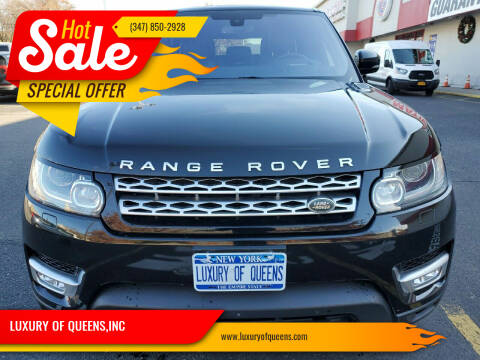 2016 Land Rover Range Rover Sport for sale at LUXURY OF QUEENS,INC in Long Island City NY