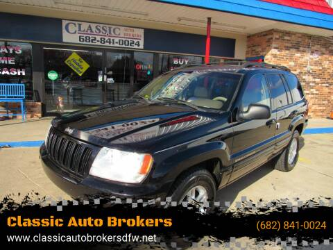 2000 Jeep Grand Cherokee for sale at Classic Auto Brokers in Haltom City TX