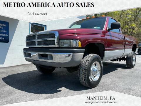 2001 Dodge Ram Pickup 2500 for sale at METRO AMERICA AUTO SALES of Manheim in Manheim PA