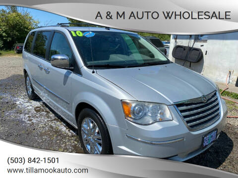 2010 Chrysler Town and Country for sale at A & M Auto Wholesale in Tillamook OR