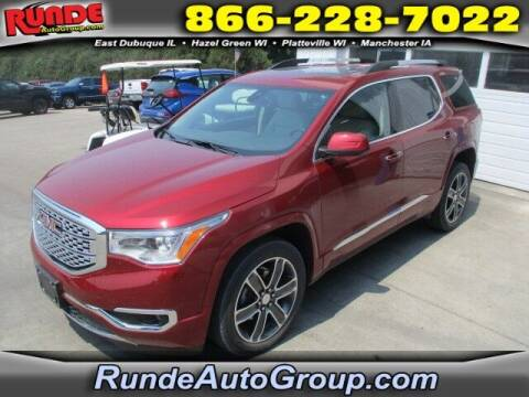 2019 GMC Acadia for sale at Runde PreDriven in Hazel Green WI