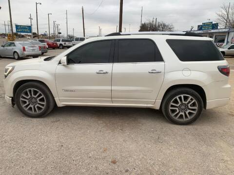 2014 GMC Acadia for sale at WF AUTOMALL in Wichita Falls TX