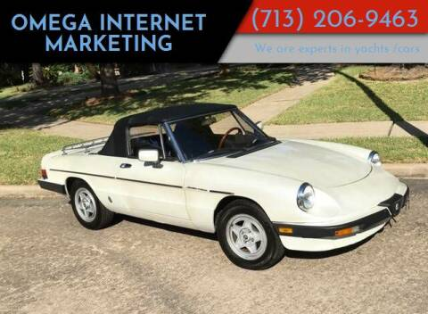1984 Alfa Romeo Spider for sale at Cars-yachtsusa.com in League City TX