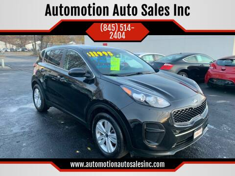 2017 Kia Sportage for sale at Automotion Auto Sales Inc in Kingston NY