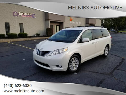 2011 Toyota Sienna for sale at Melniks Automotive in Berea OH