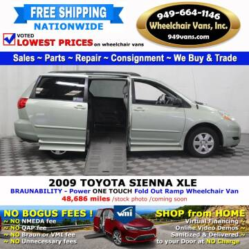 2009 Toyota Sienna for sale at Wheelchair Vans Inc - New and Used in Laguna Hills CA