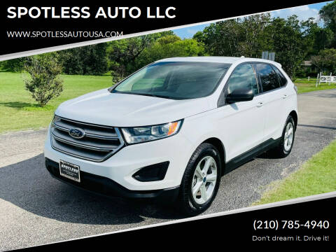 2015 Ford Edge for sale at SPOTLESS AUTO LLC in San Antonio TX