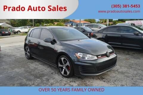 2017 Volkswagen Golf GTI for sale at Prado Auto Sales in Miami FL