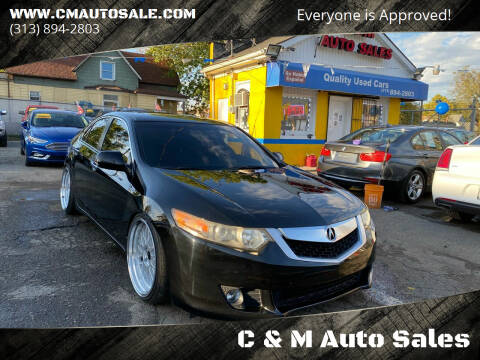 2009 Acura TSX for sale at C & M Auto Sales in Detroit MI