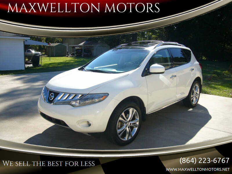 2010 Nissan Murano for sale at MAXWELLTON MOTORS in Greenwood SC