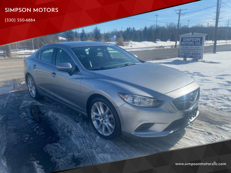 2014 Mazda MAZDA6 for sale at SIMPSON MOTORS in Youngstown OH