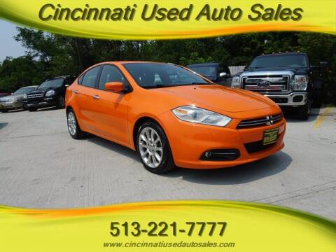 2013 Dodge Dart for sale at Cincinnati Used Auto Sales in Cincinnati OH