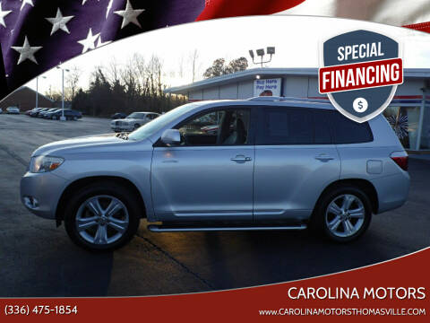 2010 Toyota Highlander for sale at CAROLINA MOTORS in Thomasville NC