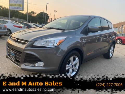 2014 Ford Escape for sale at E and M Auto Sales in Elgin IL