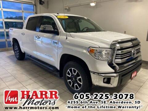 2016 Toyota Tundra for sale at Harr Motors Bargain Center in Aberdeen SD