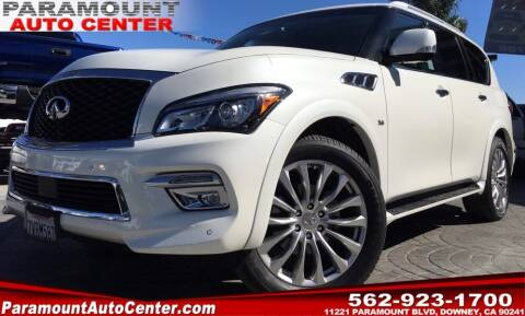 2016 Infiniti QX80 for sale at PARAMOUNT AUTO CENTER in Downey CA