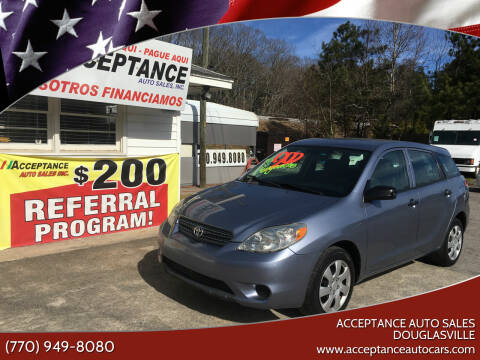 2007 Toyota Matrix for sale at Acceptance Auto Sales Douglasville in Douglasville GA