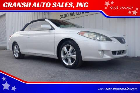 2006 Toyota Camry Solara for sale at CRANSH AUTO SALES, INC in Arlington TX