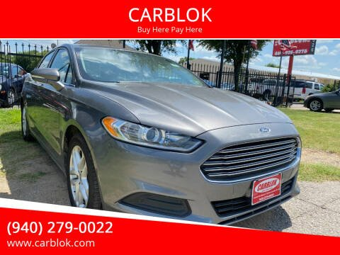 2014 Ford Fusion for sale at CARBLOK in Lewisville TX