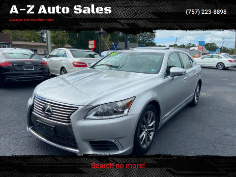 2015 Lexus LS 460 for sale at A-Z Auto Sales in Newport News VA